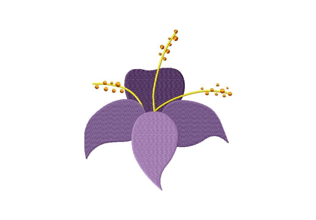 Sprouting Iris Machine Embroidery Design