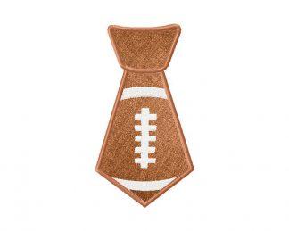 Football Tie Applique