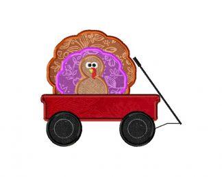 Turkey in Wagon Machine Applique Design
