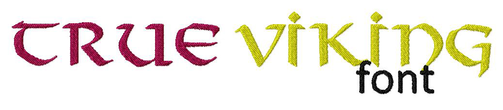 Viking Machine Embroidery Font Set