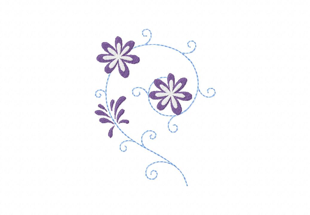 Whimsy Daisy Floral Machine Embroidery Design
