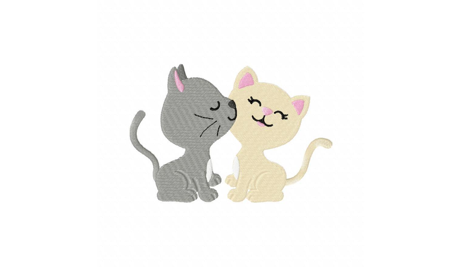 Коты любовь картинки нарисованные, цветами скрап