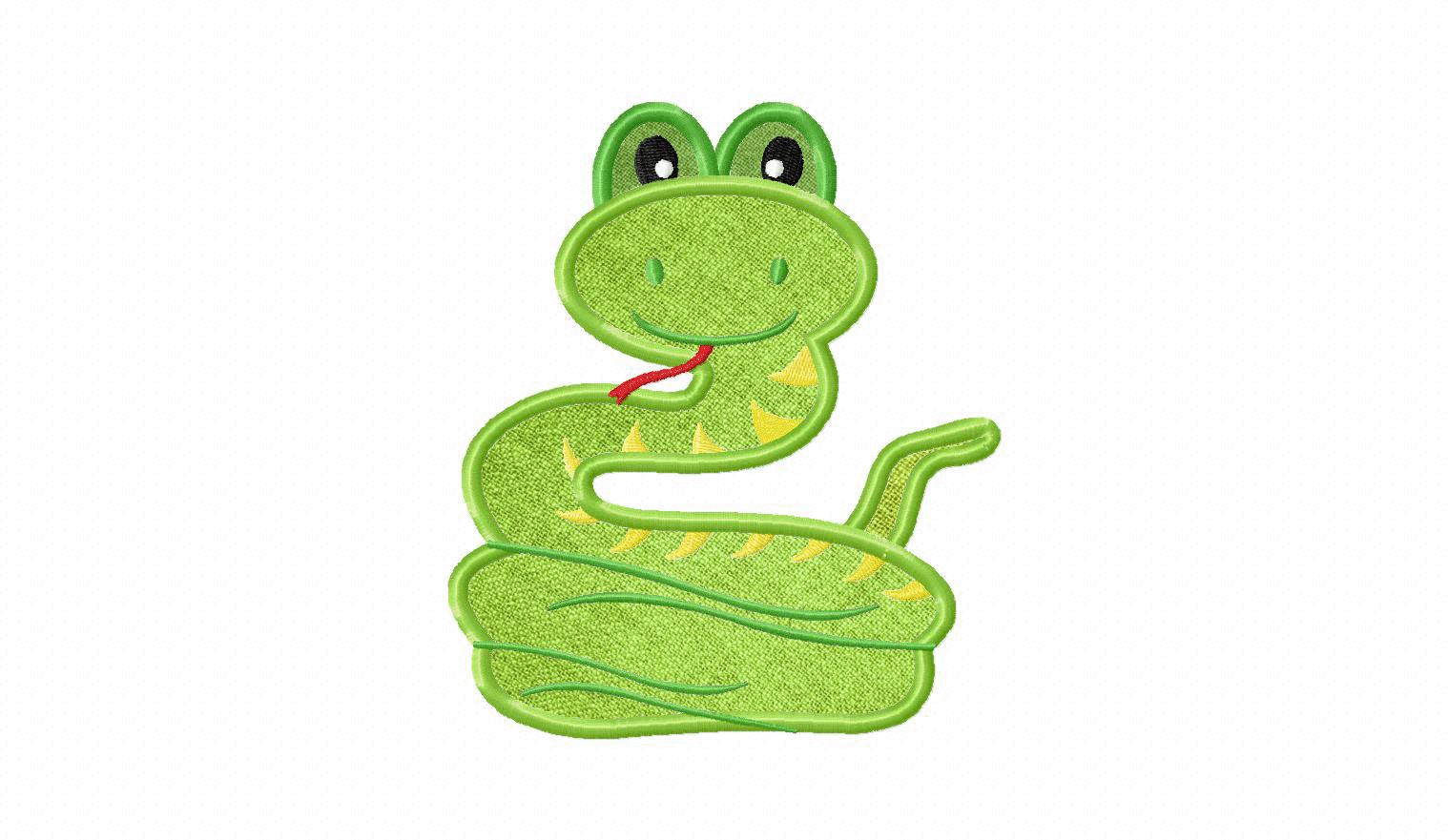 Green Snake Applique