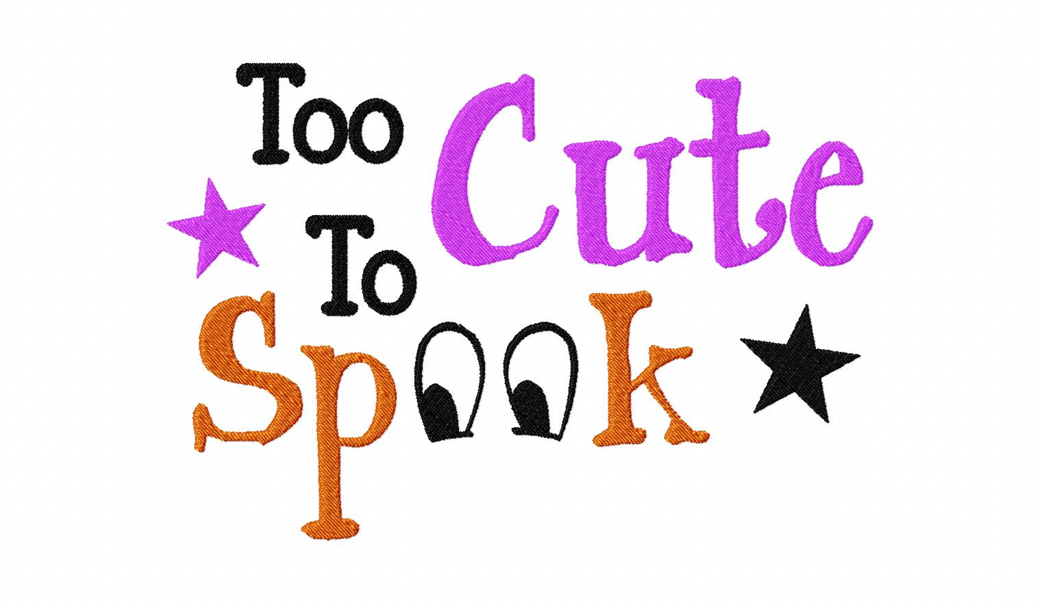 too cute to spook machine embroidery design  u2013 daily embroidery