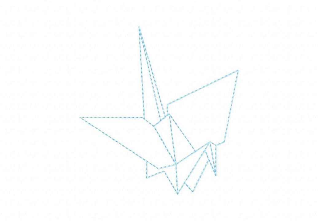 origami crane machine embroidery design  u2013 daily embroidery