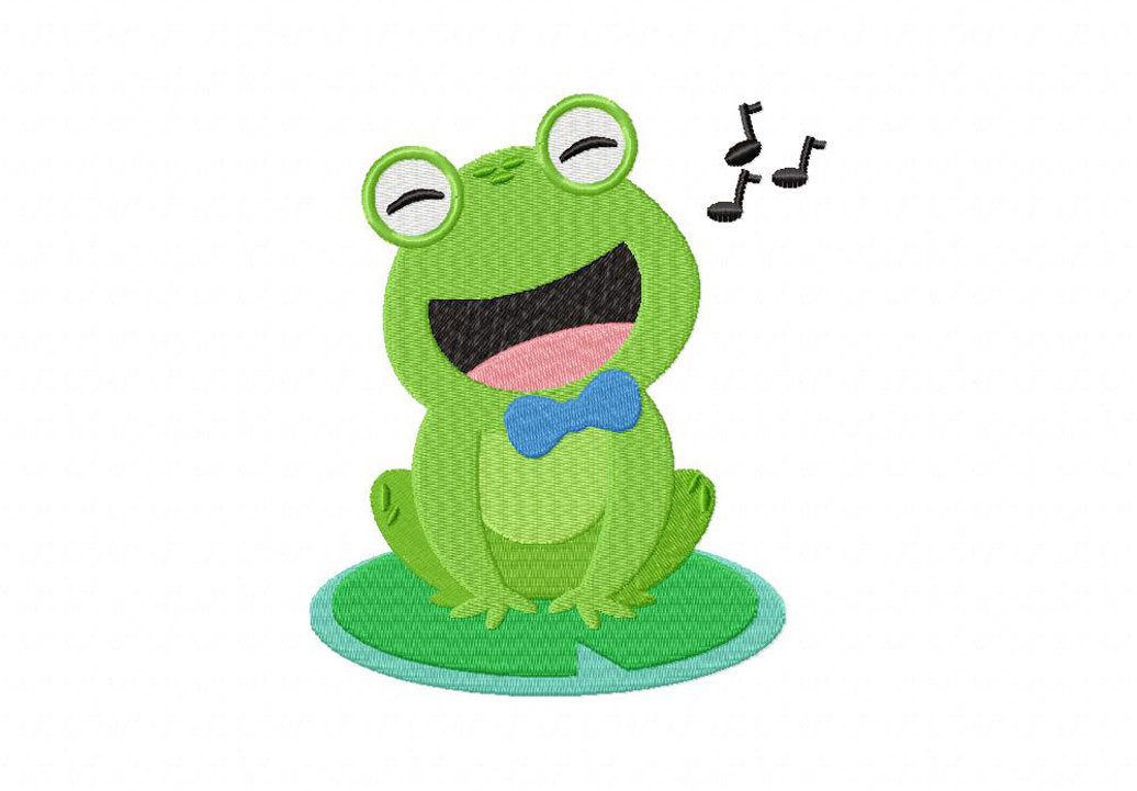 Singing Frog Machine Embroidery Design Daily Embroidery