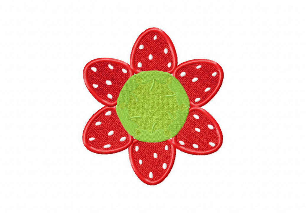 Free Strawberry Applique Design