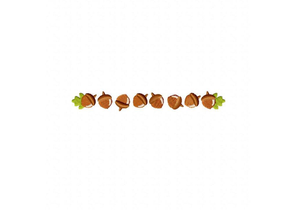 Autumn border acorn machine embroidery design daily