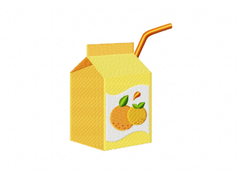 orange juice box machine embroidery design daily embroidery