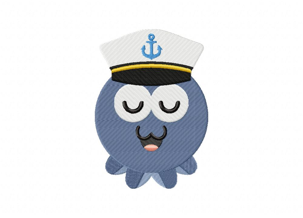 Nautical octopus sailor includes both applique and stitched u2013 daily