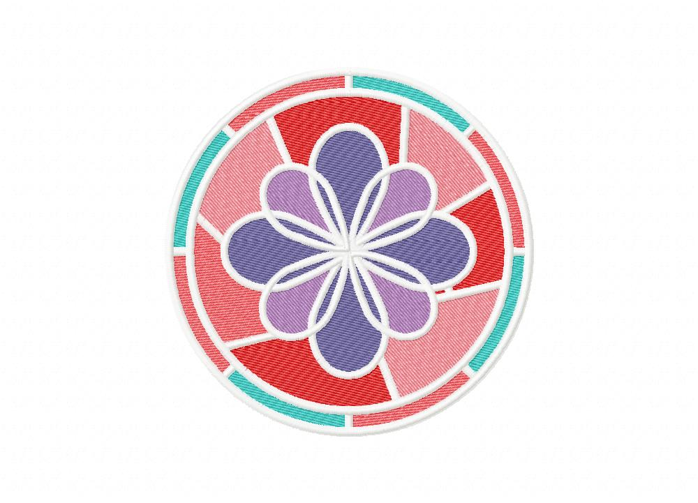 Elegant Stained Glass Flower Machine Embroidery Design U2013 Daily Embroidery