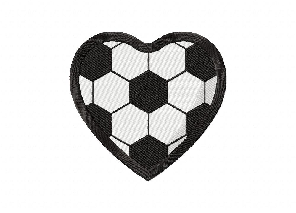 soccer heart machine embroidery design  u2013 daily embroidery