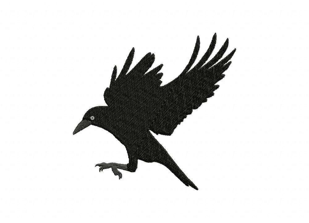 black crow flight machine embroidery design  u2013 daily embroidery