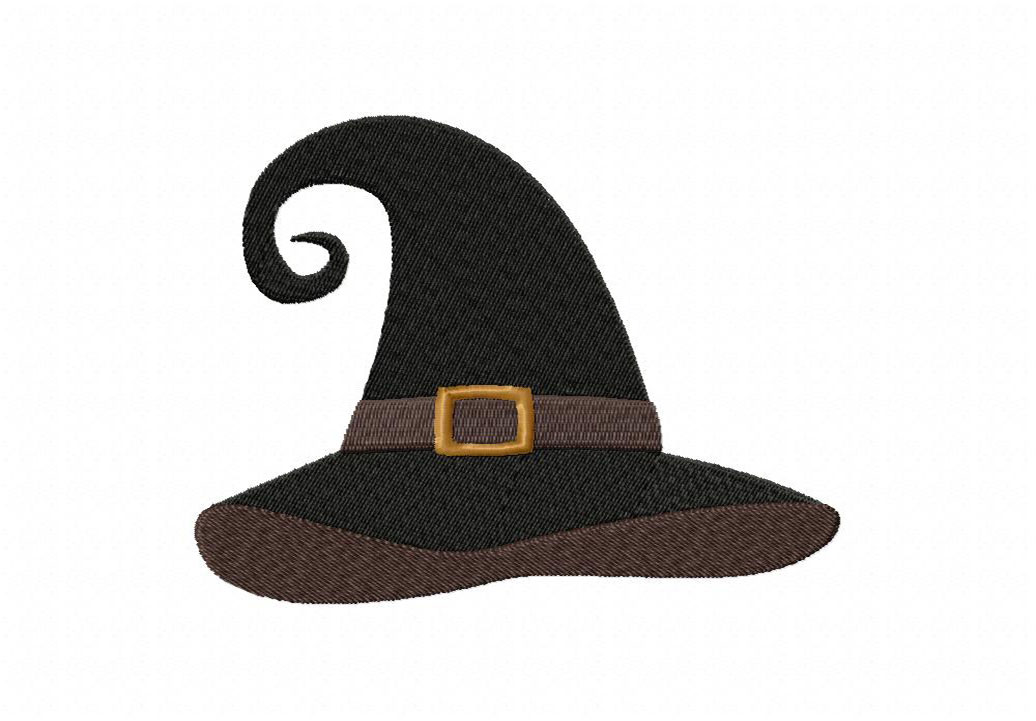 Scary Witch Hat Machine Embroidery Design