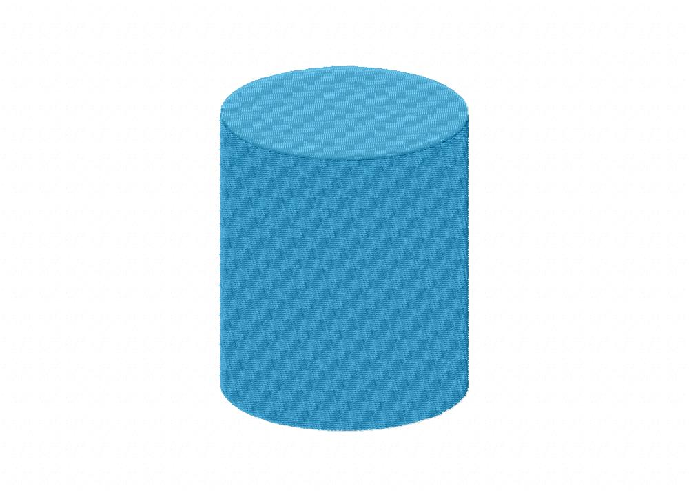 Cylinder Blue Shape Machine Embroidery Design Daily