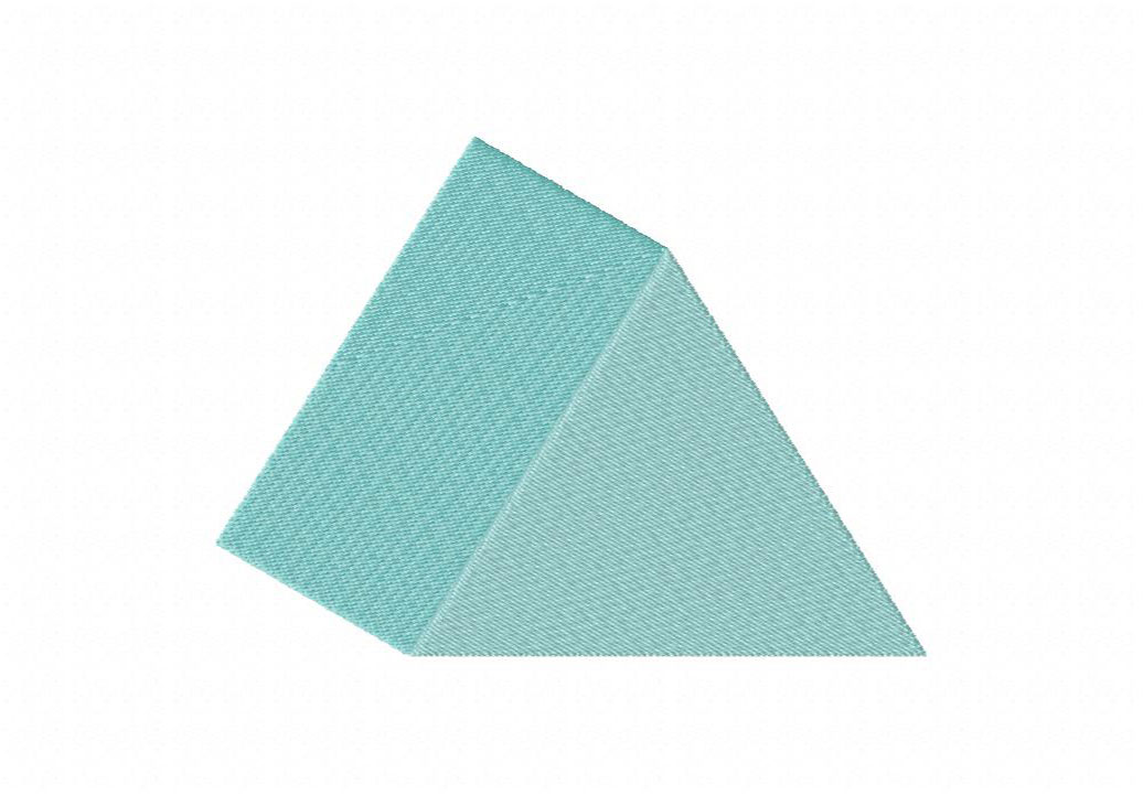 Triangular Prism Machine Embroidery Design – Daily Embroidery