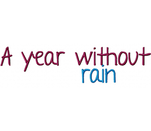 A Year Without Rain Font Machine Embroidery Monogramming Font Set Daily Embroidery