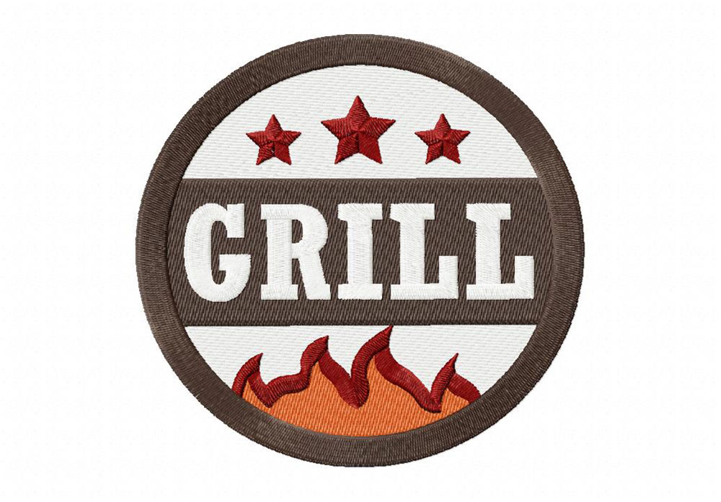 Hot Barbecue Grill Machine Embroidery Design Daily Embroidery