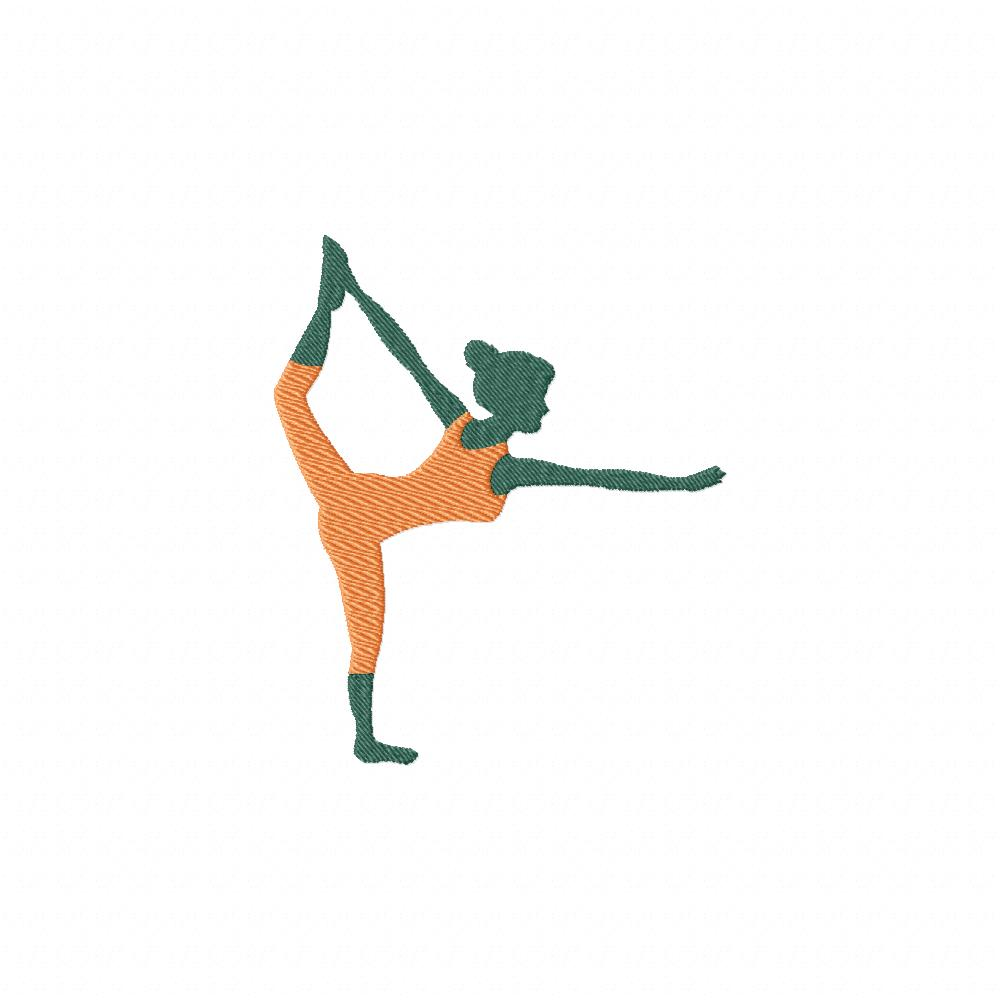 Cool yoga stance machine embroidery design daily