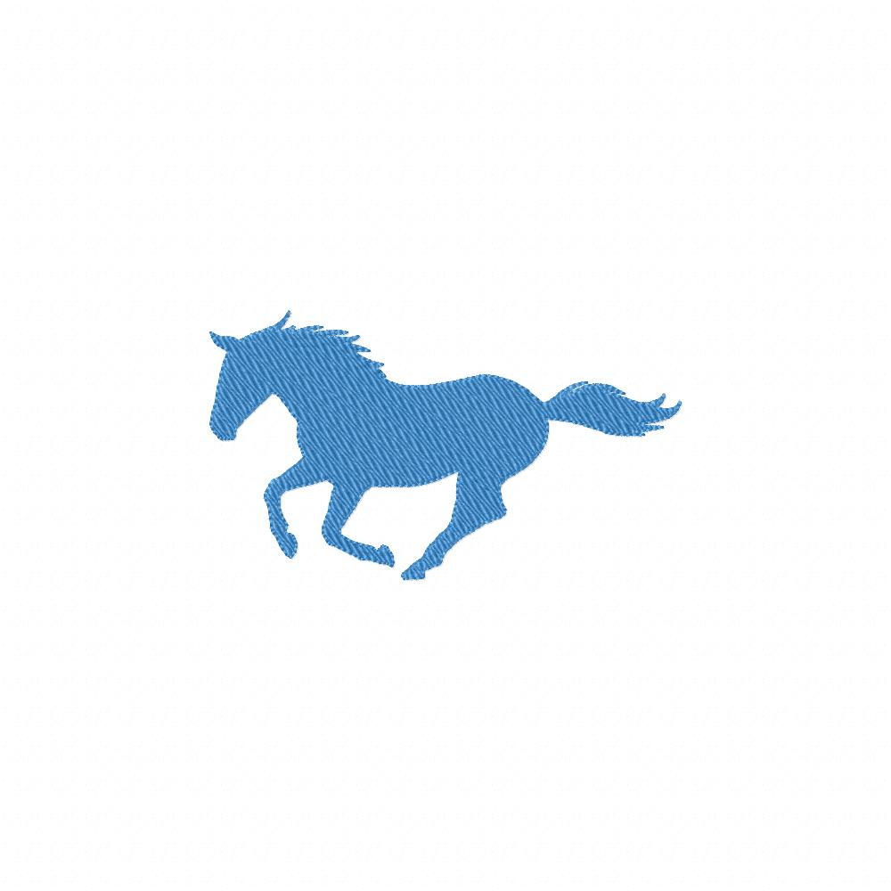 blue horse silhouette machine embroidery design  u2013 daily embroidery