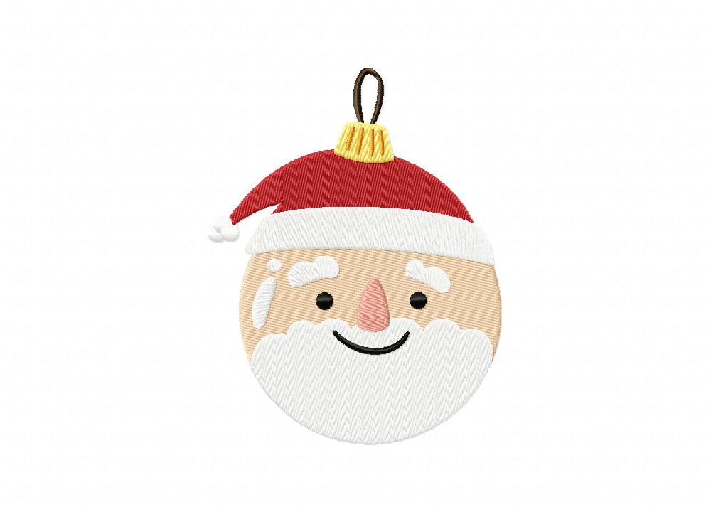 eacf8c37cff5d Santa Christmas Ball Includes both Applique and Stitch Embroidery Design
