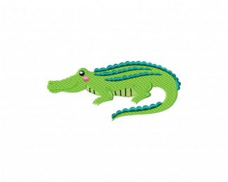 I Bite Alligator Machine Embroider Digital Applique Design Crocodile