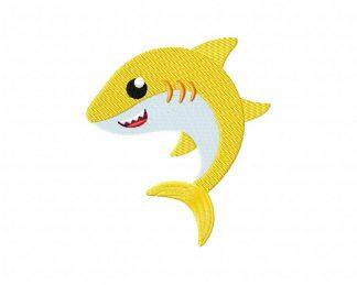 Baby Shark Doo Doo Embroidery Design 3 Sizes Instant Download 10 Formats